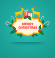 christmas banner with deers vector image vector image