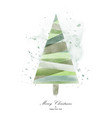 christmas tree design with green watercolor vector image vector image