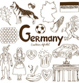 Collection of Germany icons vector image