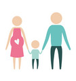 color silhouette pictogram parents with mother vector image vector image