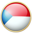 czech republic flag on round badge vector image
