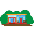 double store building vector image