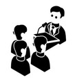 election speak conference icon simple style vector image vector image