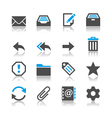 Email icons reflection