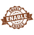 enable stamp sign seal vector image vector image