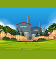 factory in nature landscape vector image