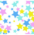 flat colored stars seamless pattern abstract vector image vector image