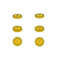 flat golden dollar cent coins set vector image vector image