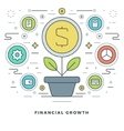 Flat line Business Concept Financial Growth vector image vector image