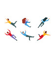 flying people crazy levitation freedom outdoors vector image vector image