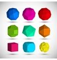 Geometric elements set vector image vector image