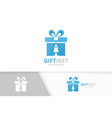 gift and rocket logo combination present vector image vector image
