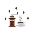 hand mill for coffee vector image