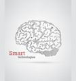 hi-tech brain vector image vector image