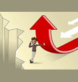 hipster businessman change of a direction concept vector image