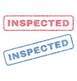 inspected textile stamps vector image vector image