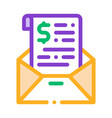 invoice message in envelope and dollar icon vector image