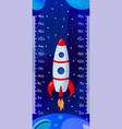 Kids space height chart cosmic wall meter