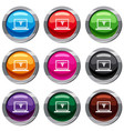 laptop with 3d design set 9 collection vector image vector image