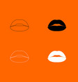 lipstick or lips icon vector image