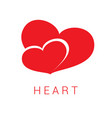 logo icon red hearts valentine day medical vector image