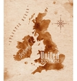 Map United kingdom and Scotland retro vector image vector image