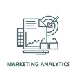 marketing analytics line icon linear vector image vector image