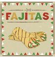 mexican fajitas vector image vector image