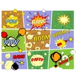 Mockups of comic book speech bubbles vector image