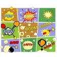 Mockups of comic book speech bubbles vector image vector image