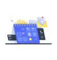 modern calendar with task management and mail app vector image vector image