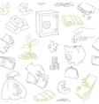 Money symbols doodle sketch seamless vector image vector image