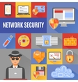 Network Security Decorative Icons vector image vector image