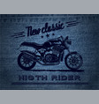 new classic jeans banner vector image