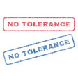no tolerance textile stamps vector image vector image