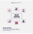 online shopping concept for presentation vector image