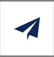 paper plane icon send message solid logo vector image