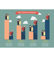 Pensioners with workers ratio trend infographic vector image vector image
