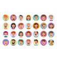 people icons set avatar profile diverse faces vector image vector image