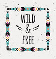 poster with tribal graphic design elements boho vector image vector image