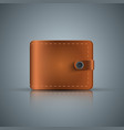 realistic wallet icon on the grey background vector image