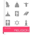 religion icons set vector image vector image
