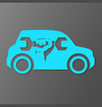 repair car symbol vector image vector image