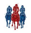 riding horse race horse jockey equestrian vector image vector image