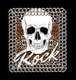 rock hand drawn human skull vector image
