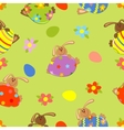 Seamless easter bacground vector image vector image