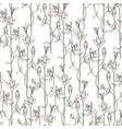 seamless pattern wild herbal flowers vector image vector image