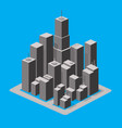 set 3d isometric city with houses vector image vector image