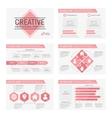 Set of 6 templates for presentation slides vector image