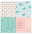Set of seamless love patterns vector image